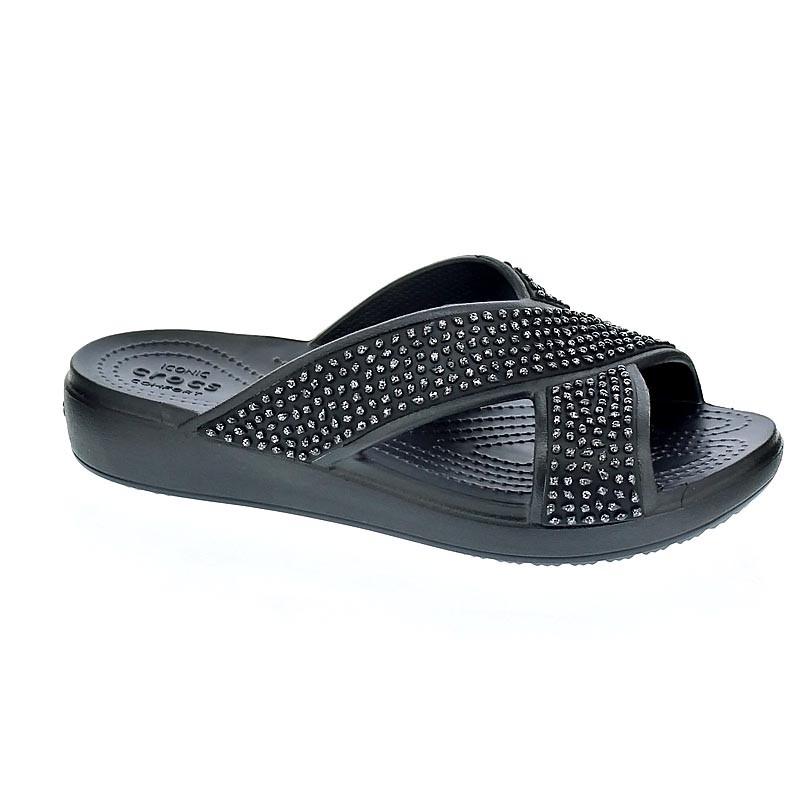 Crocs CrocsSloane Embellished Xstrap Negro S9U5HKWtw