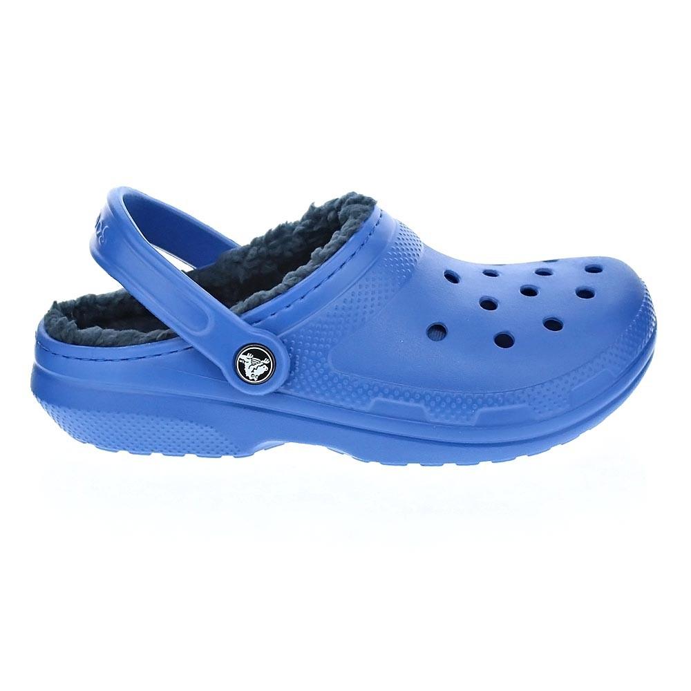 Crocs-Classic-Lined-Clog-Zuecos-Hombre-Azul-25803 miniatura 5