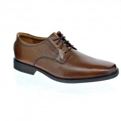 Tilden Plain - Zapatos con Cordones de Cuero Hombre, Color Marrón, Talla 44 Clarks