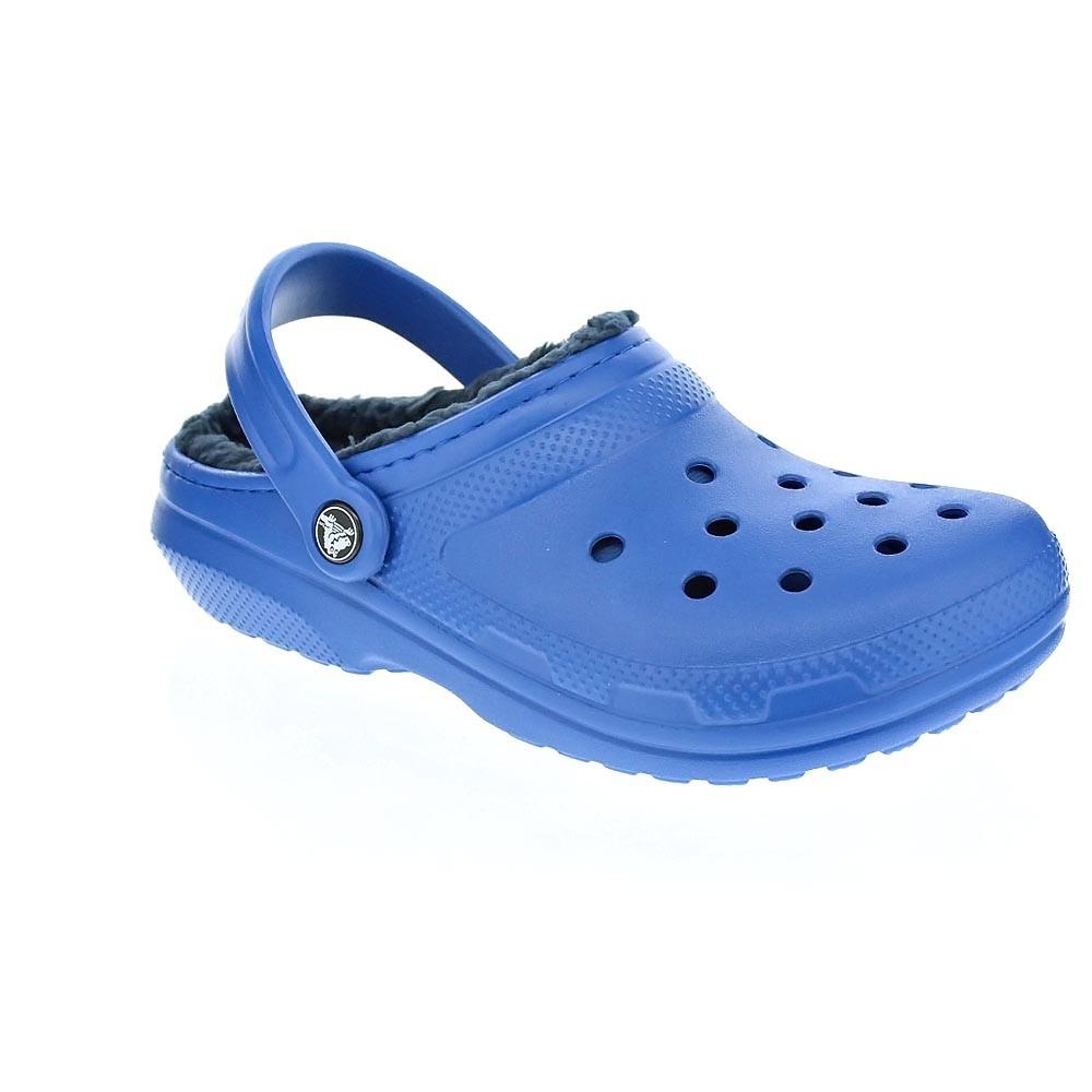 Crocs-Classic-Lined-Clog-Zuecos-Hombre-Azul-25803 miniatura 6