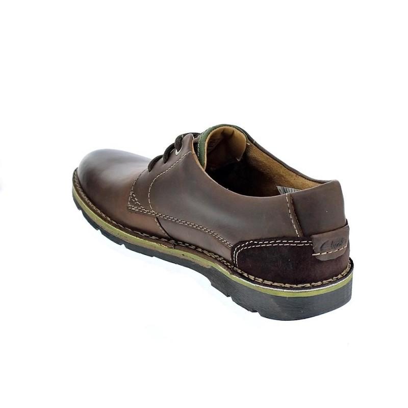 Cordón Zapatos Con Clarks Plain 26119832 Hombre Marrón Edgewick nqCn8w1p