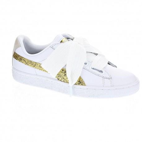 huge discount 0522e 3dd79 Puma Basket Heart Glitter