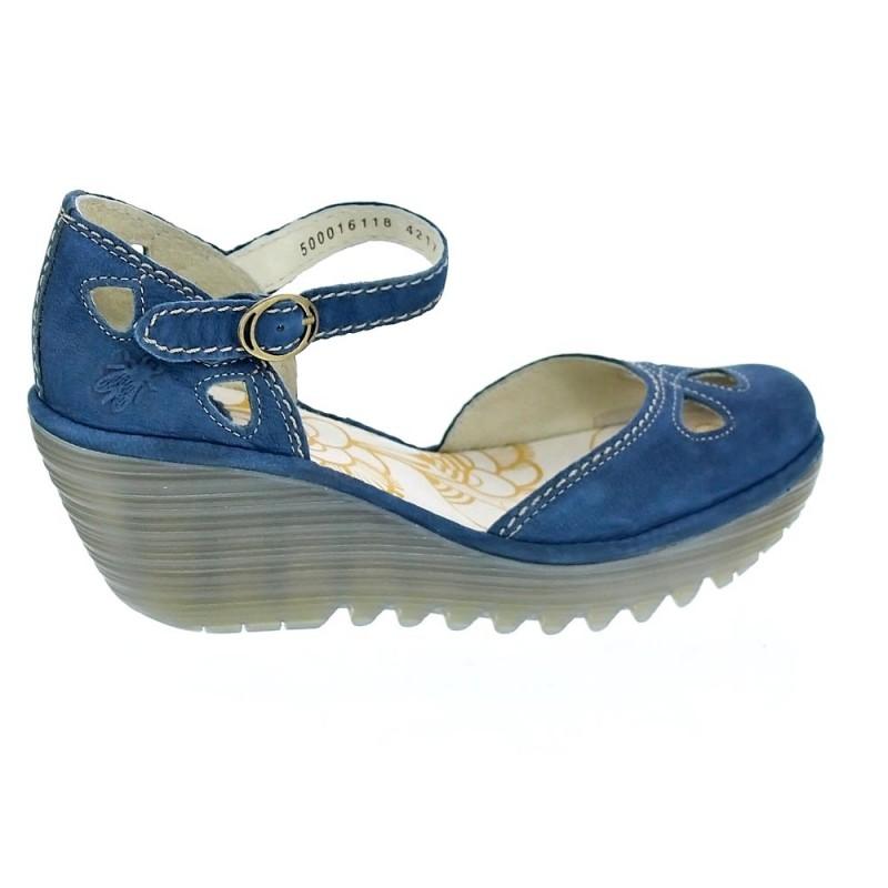 b71800ce553 Fly London Yuna Cupido Azul P500016 118 Sandalias Mujer - ¡Entrega ...