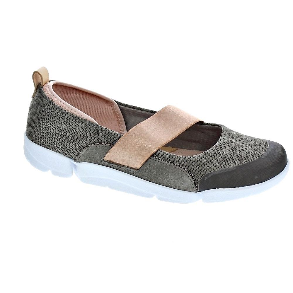 Mujer Clarks TRI ALLIE cuero y textil Zapatos de Diario Ancho D