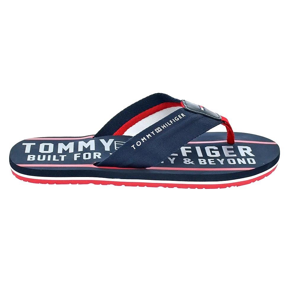 Tommy-Hilfiger-Smart-Beach-Sandal-Chanclas-Hombre-Azul