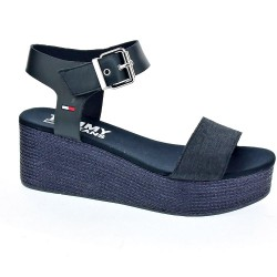 Sporty Denim Flatform Sandal