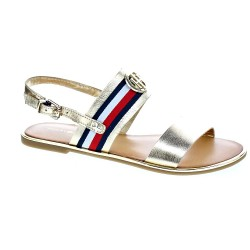 Corporate Ribbon Flat sandal Met