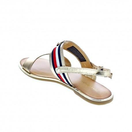 Corporate Ribbon Flat sandal Met