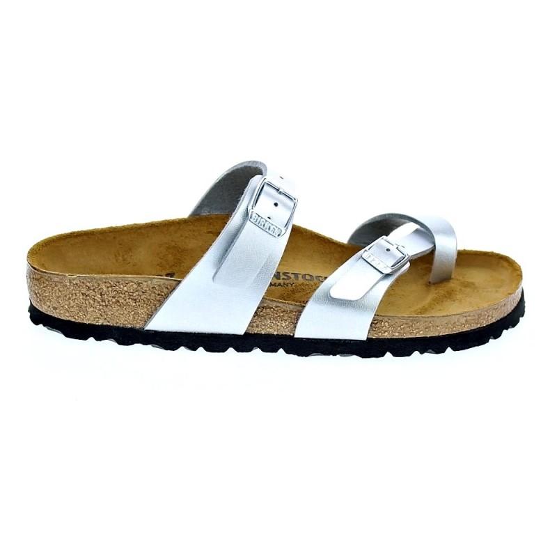 Zapatos plateado casual Birkenstock Mayari para mujer HxfeVrC