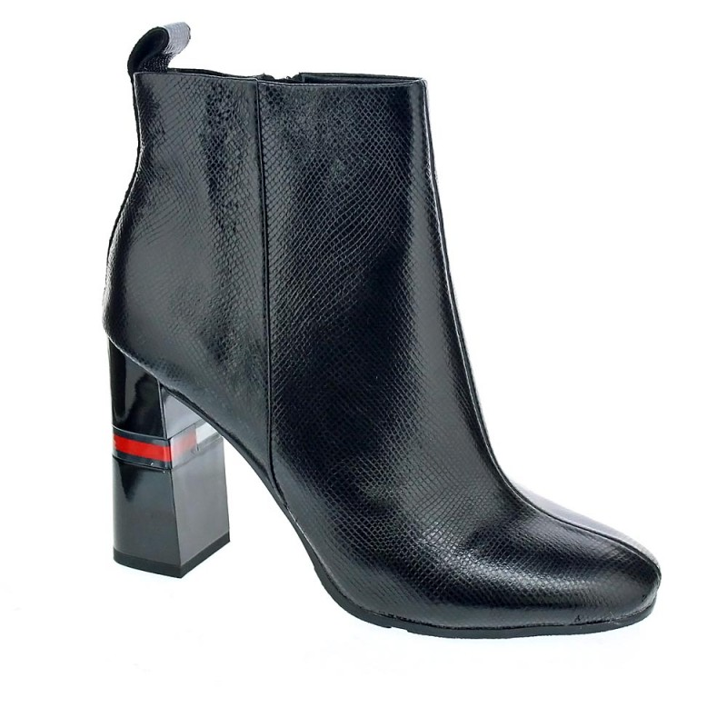 Crackled Metallic Heeled Boot
