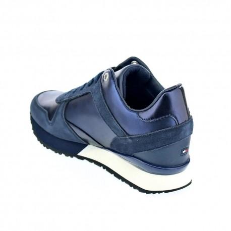 Camo Metallic Wedge Sneaker