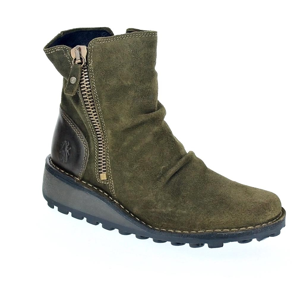 Fly London MONG  4006  Botines  MONG Mujer  Verde 889d0a