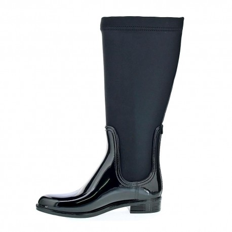 Material Mix Long Rain Boot