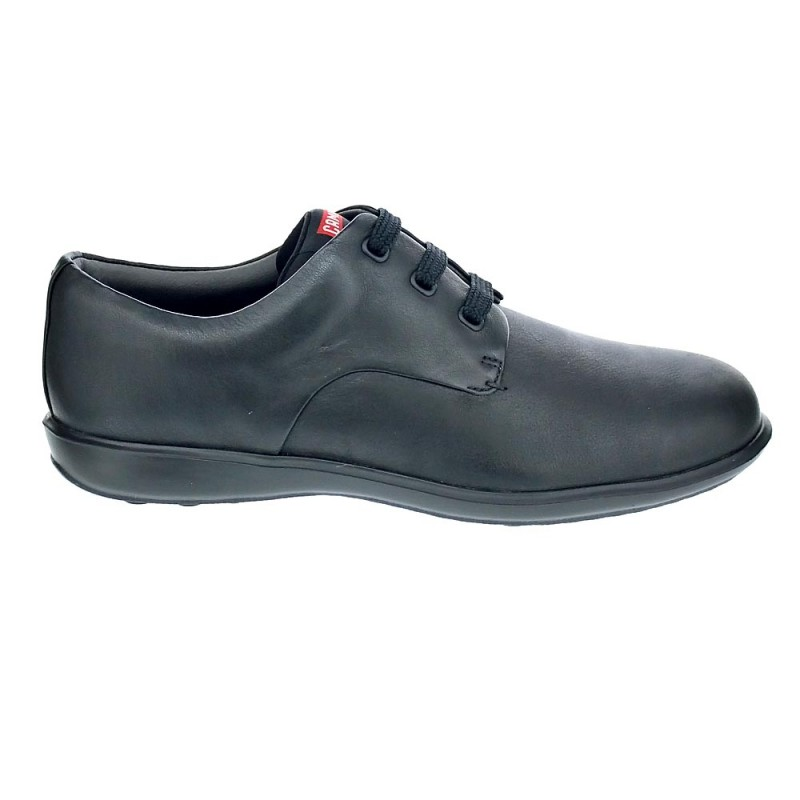 Hombre Camper Negro Work 035 18637 Atom Con Cordón Zapatos FFxn78wr