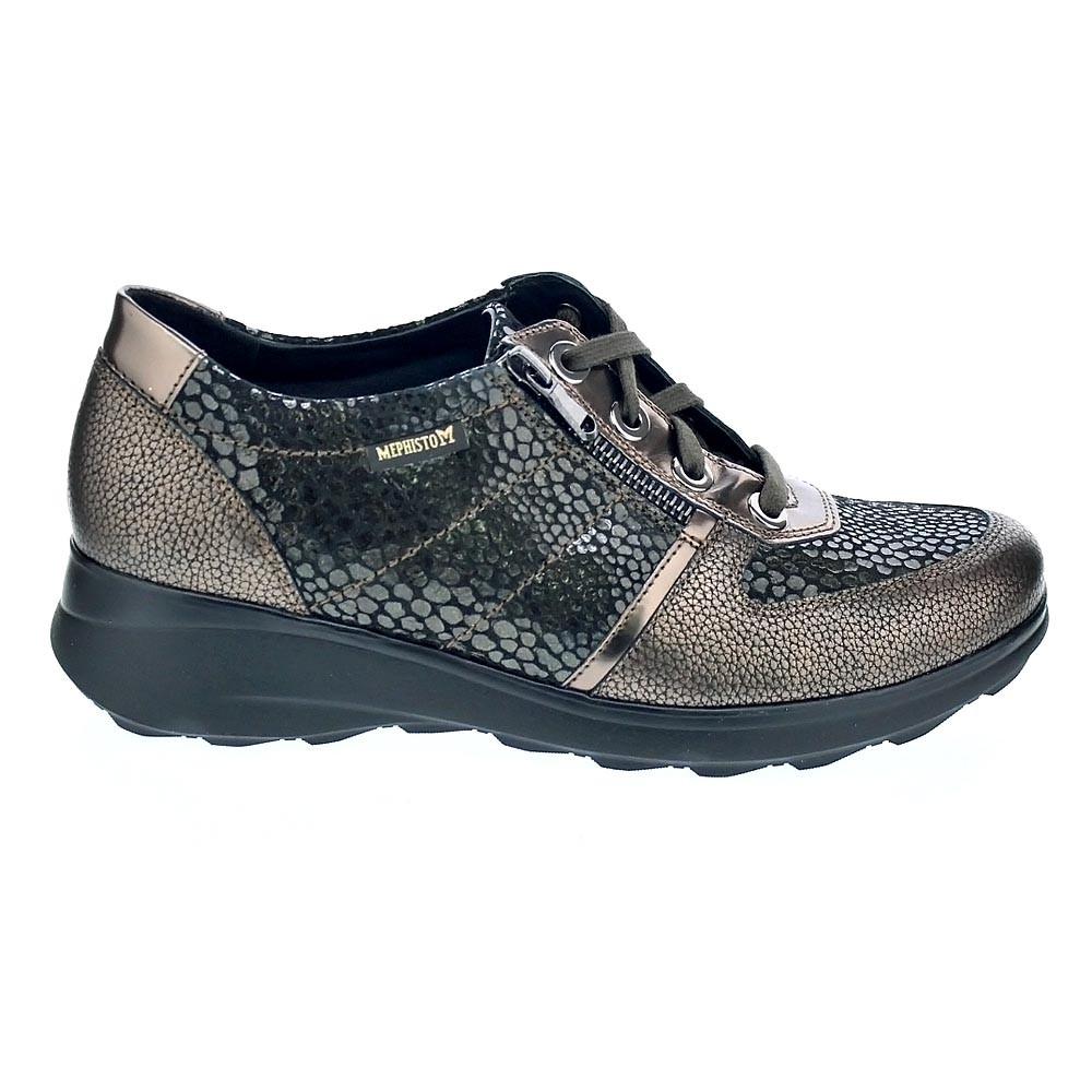 Cordón Zapatos Mephisto Jill Con Marrón Mujer tfwRqv1qx