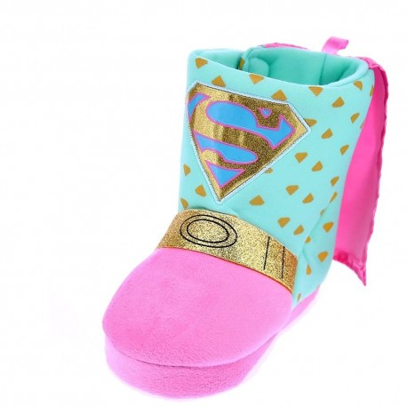 Boot Sliper 3D Superheroina Girl