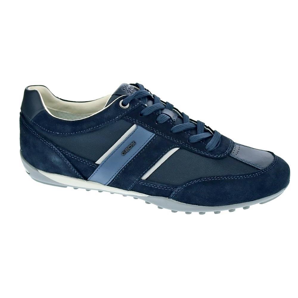 3492296db83 Geox-Wells-Zapatillas-bajas-Hombre-Azul-37850 miniatura 5