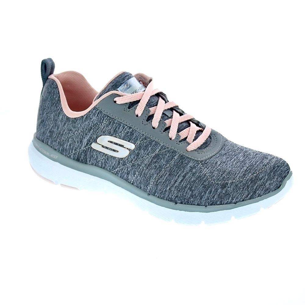 Flex Chaussures Low Appeal Femme Gris Skechers OwvUdqda