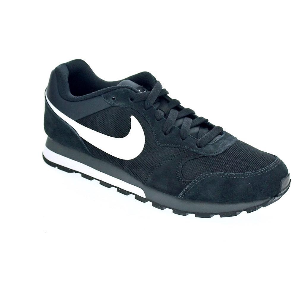 Detalles de Nike Md Runner 2 Zapatillas bajas Hombre Negro 42333