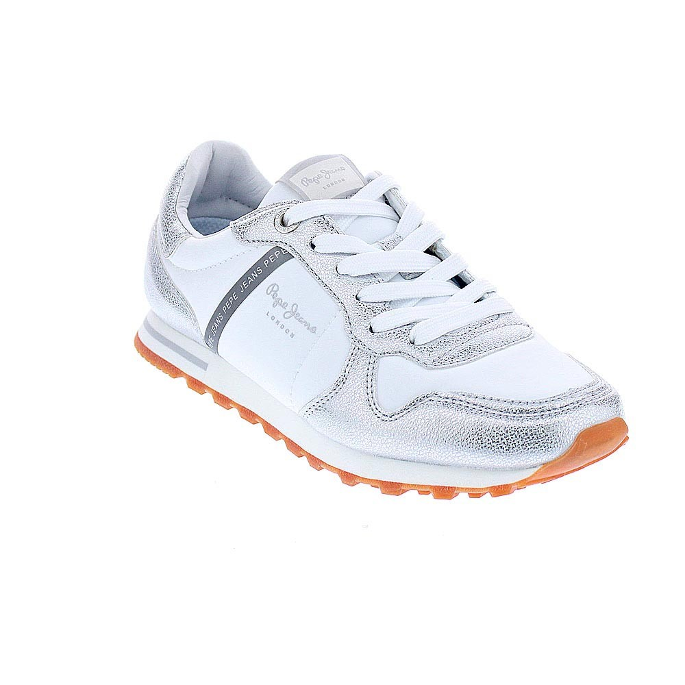 Pepe-Jeans-Verona-Zapatillas-bajas-Mujer-Plata-42842 miniatura 6