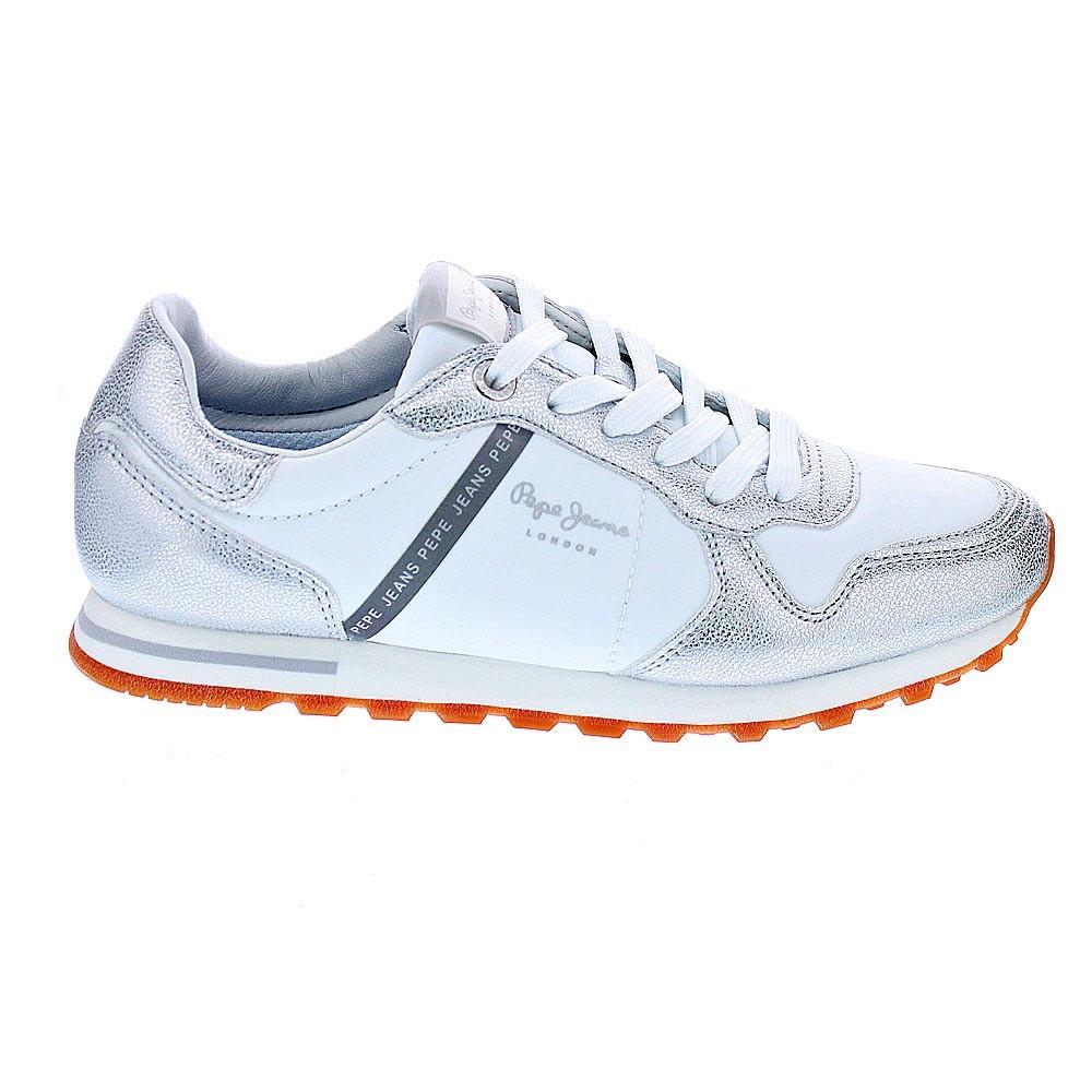 Pepe-Jeans-Verona-Zapatillas-bajas-Mujer-Plata-42842 miniatura 5